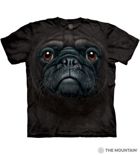 Black Pug Face T-shirt | The Mountain®